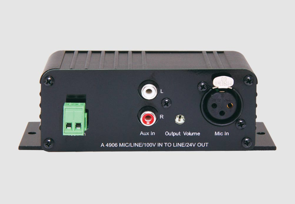Mic/Line/100V Input to Line Level Converter - Redback Audio