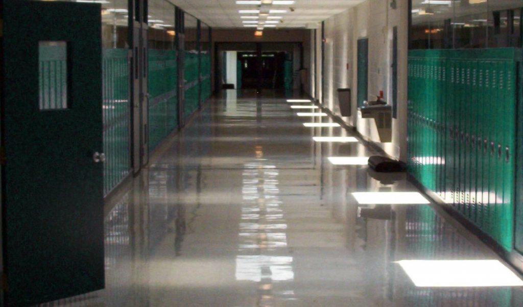 school lockdown halls