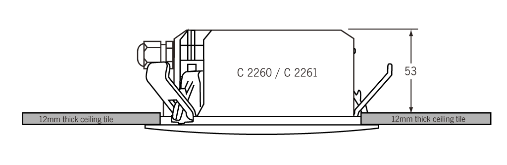 C 2260 ceiling depth diagram