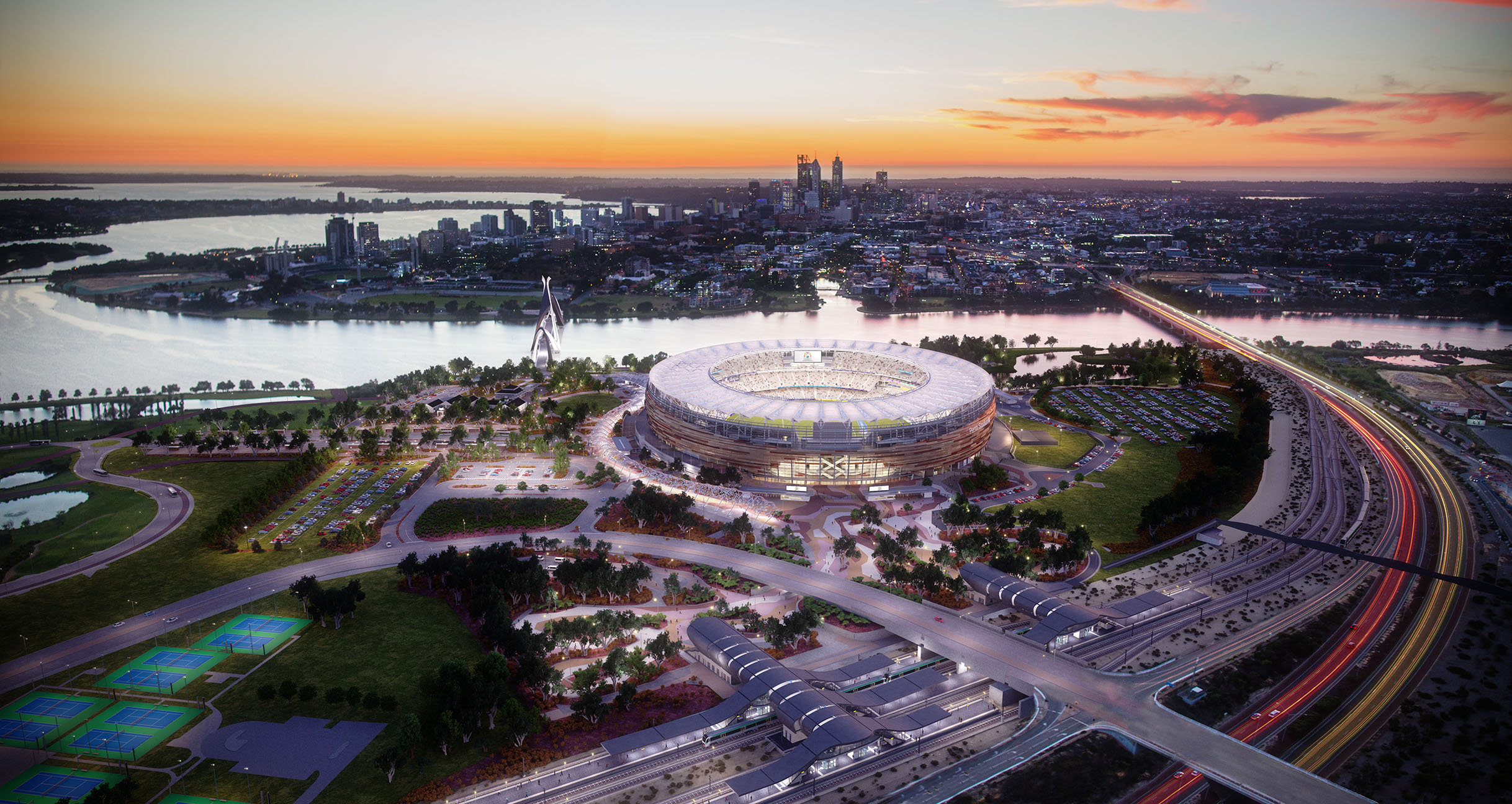 Redback Audio Project Profile New Perth Stadium